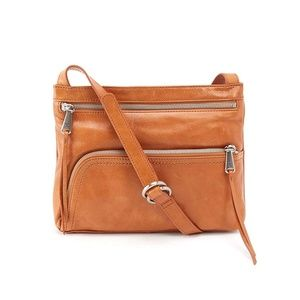 HoboCASSIE leather crossbody bag EARTH brown
